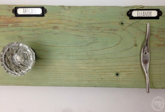 diy towel rack with vintage doorknobs