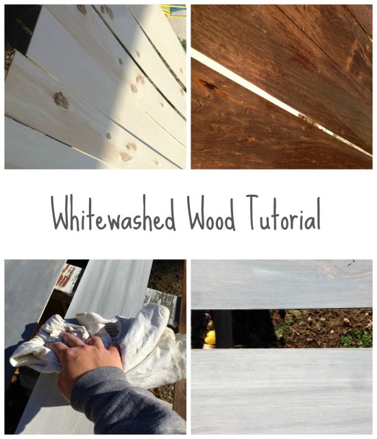 the best way to whitewash wood | how to get a weathered wood look | DIY weathered wood
