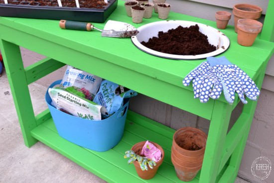cheap and easy diy potting bench