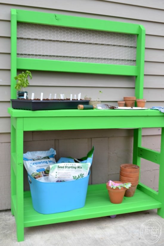 diy potting bench tutorial and cut list