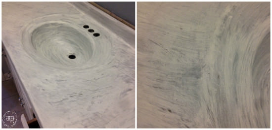 how to make a faux marble countertop for cheap