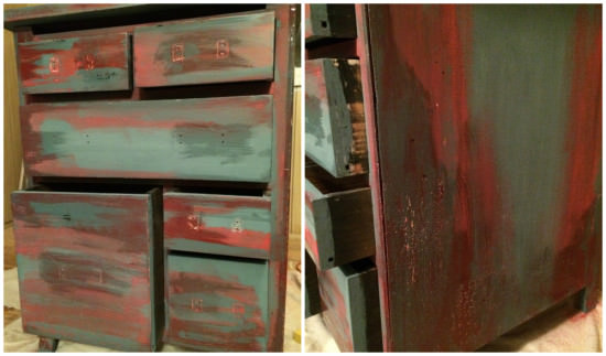 how to paint furniture with multiple layers of paint to show through