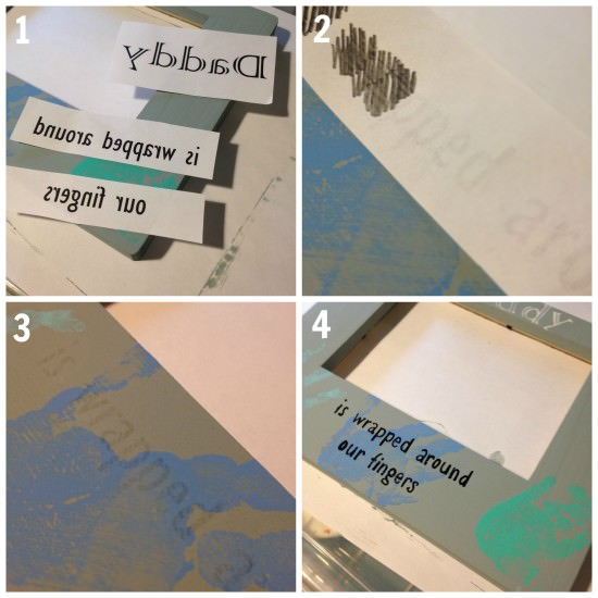 easy way to transfer letters to paint