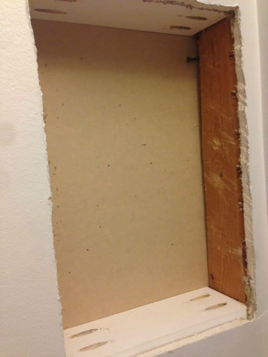 how to build a storage hole in your wall