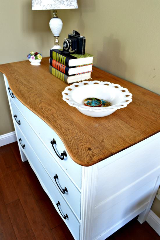 how to stain a dresser top