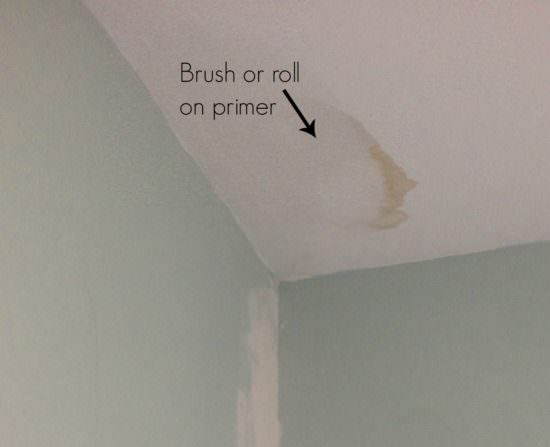 how to hide water stains on ceiling