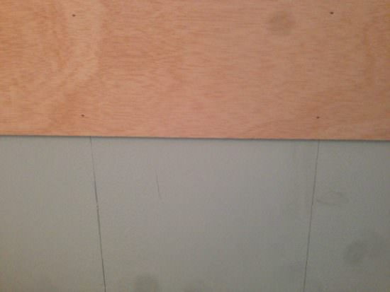 how to install a fake plank wall