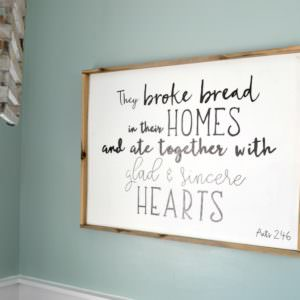 How to Make a Wood Sign with a Custom Quote and Wood Frame