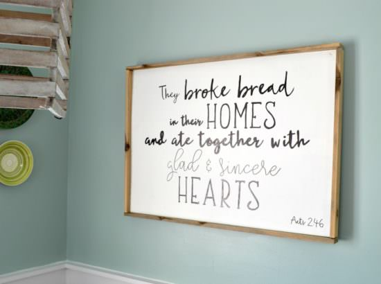 How to Make a Wood Sign with a Custom Quote and Wood Frame ...