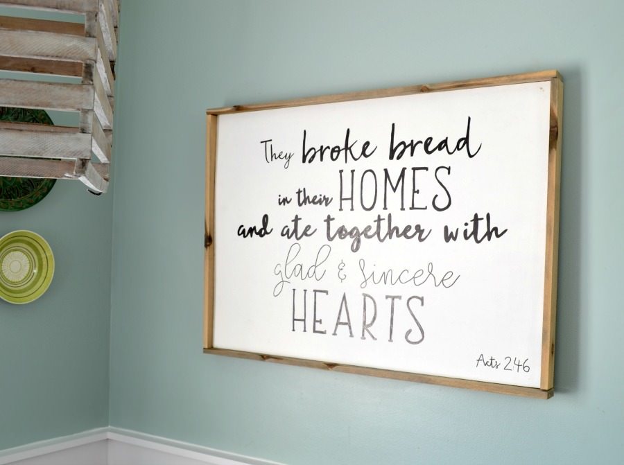 How To Make A Wood Sign With Custom Quote And Frame