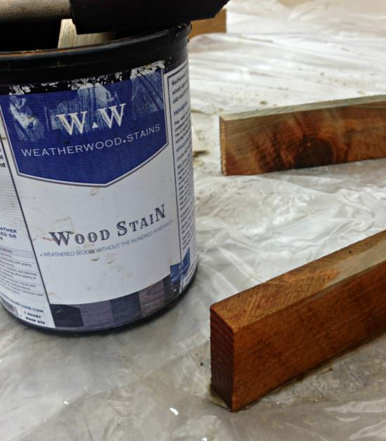 how to weather wood with stain