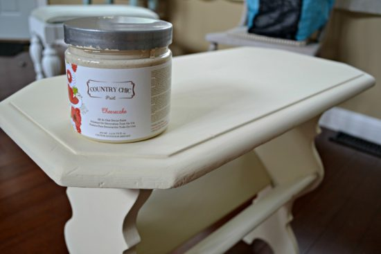 country chic cheesecake painted table