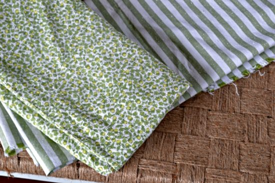vintage fabric green