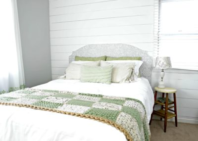 vintage farmhouse master bedroom