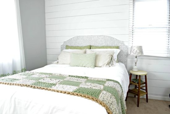 vintage farmhouse master bedroom