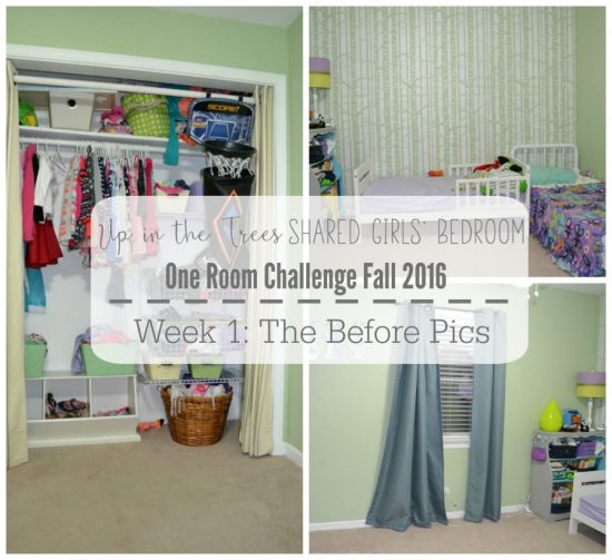 This small bedroom will get an overhaul to accommodate two growing girls!