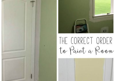 "Paint a room like a professional! What's the correct order for painting a room? There really is a ""right way"" that will help you to save time and to paint clean lines throughout the room."