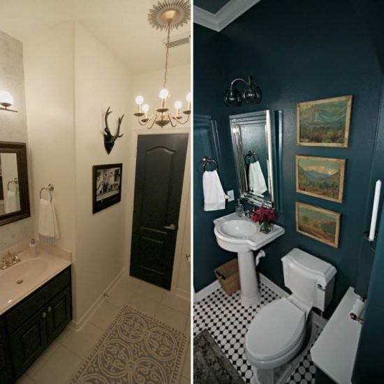 Check out these 15 amazing room makeovers that are sure to inspire your home decor! Great ideas for bathrooms, bedrooms, living rooms, kid rooms, and more! Make sure to pin it so you can find it later!