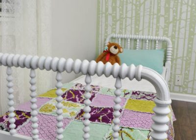 These spindles on this antique bed are gorgeous! It works to paint it since the finish was in pretty bad shape. It can always be stripped later!