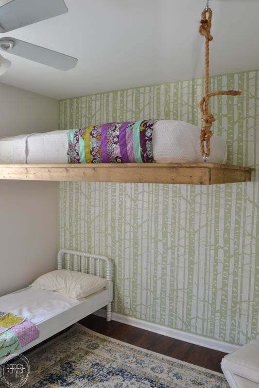 Diy loft bed refresh living - Diy bunk beds for small rooms ...