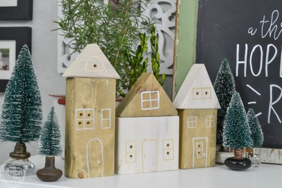 Diy Christmas Village Houses With Scrap Wood Refresh Living