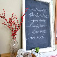 It's easy to turn a window into a chalkboard! If you use the right paint and follow these steps, you'll have a smooth finish that doesn't scratch off.