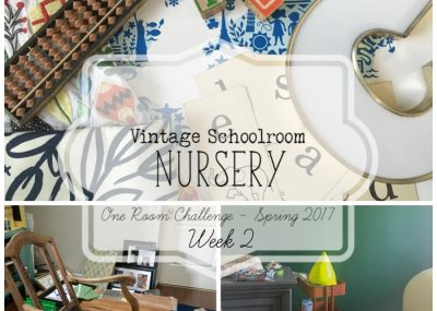 A room inspired by a vintage classroom? What a cool idea for a nursery!