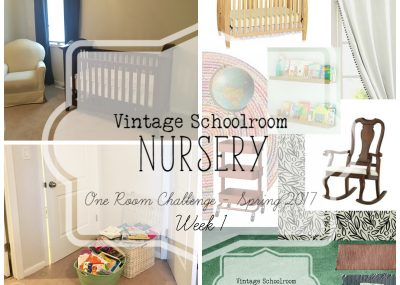 A boring nursery gets transformed into a vintage classroom!