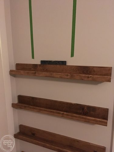 An easy to follow tutorial on how to build book ledges for less than $5! These would be great in a nursery or kids room.