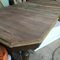"""A $40 dining room table can be transformed into a beautiful and """"new"""" piece of furniture!"""